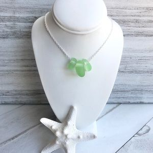 Summer Sea Glass Beach Boho Stacked Necklace